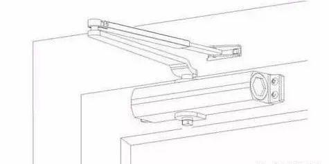 弱电工程闭门器五种安装方法